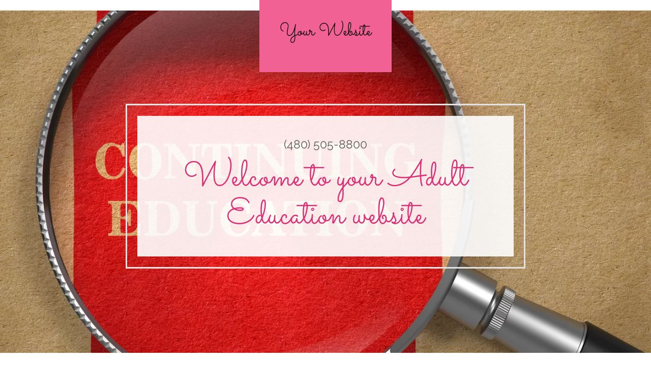 Adult Education Website: Example 2