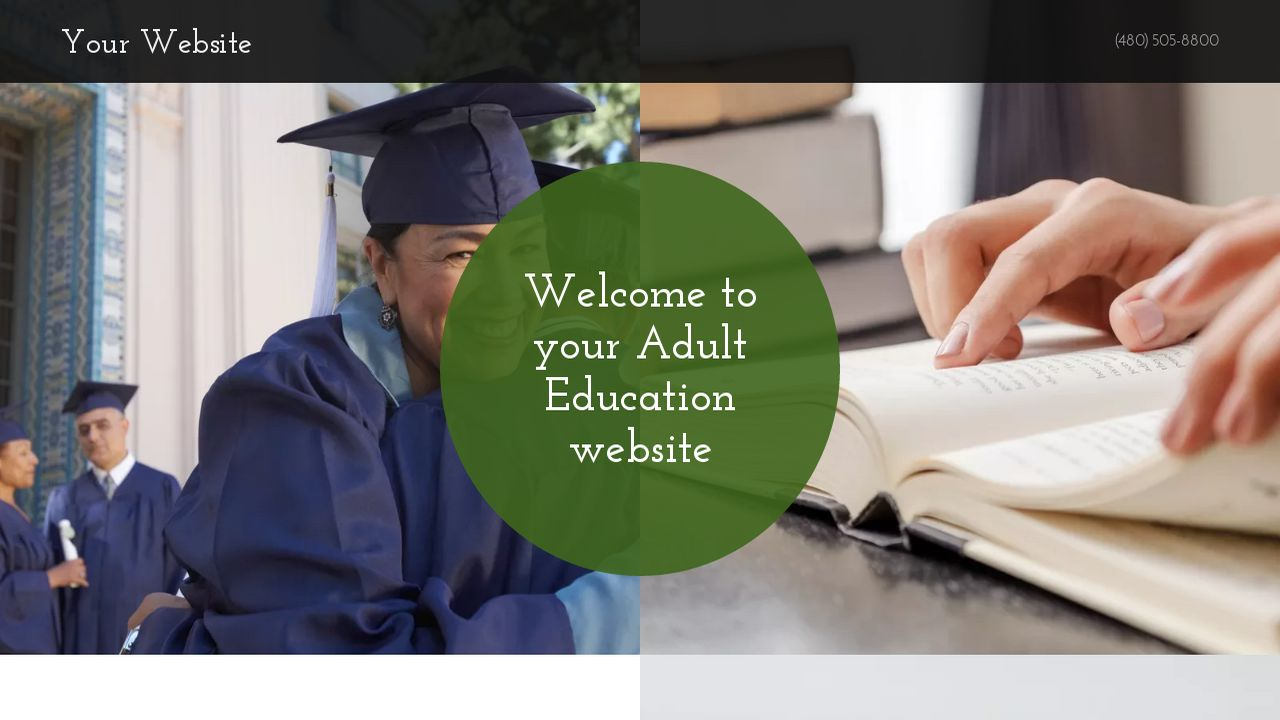 Adult Education Website: Example 3