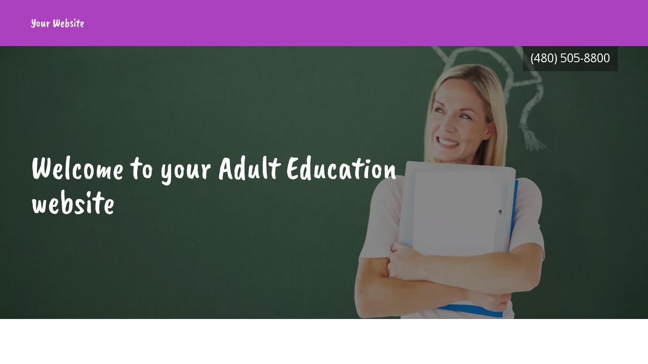 Adult Education Website: Example 6