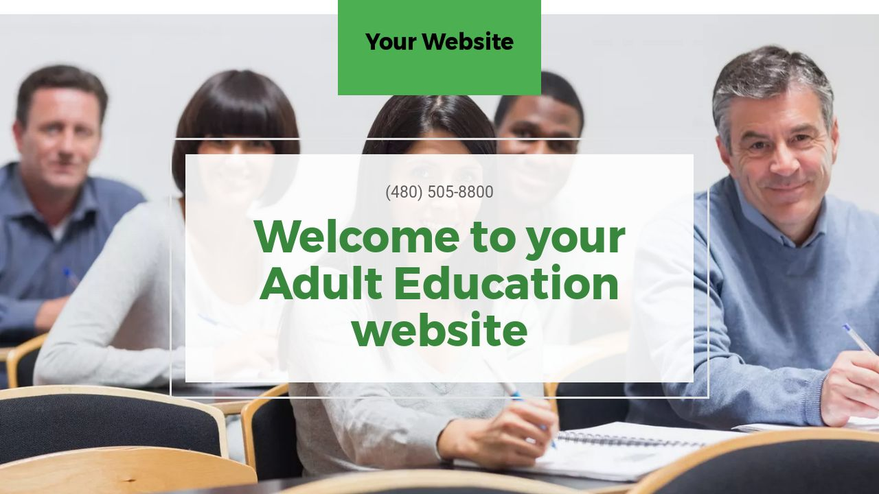 Adult Education Website: Example 9