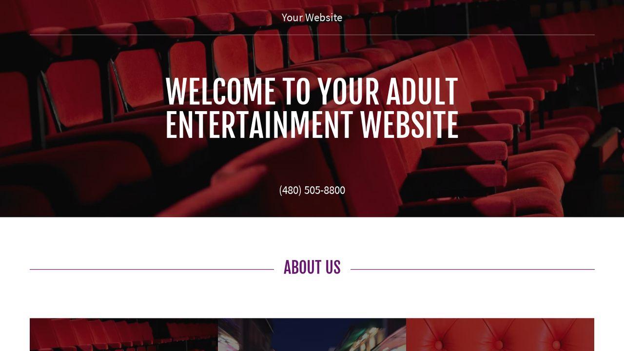 Adult entertainment web site