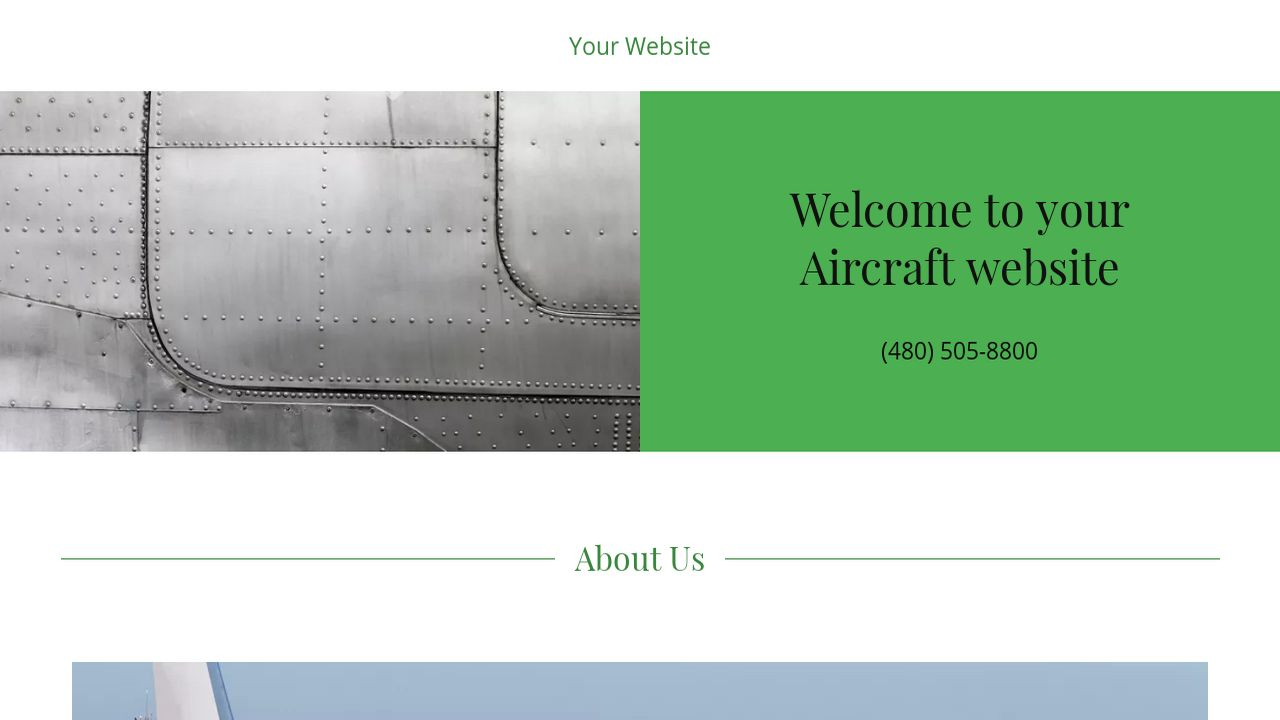 Aircraft Website: Example 17