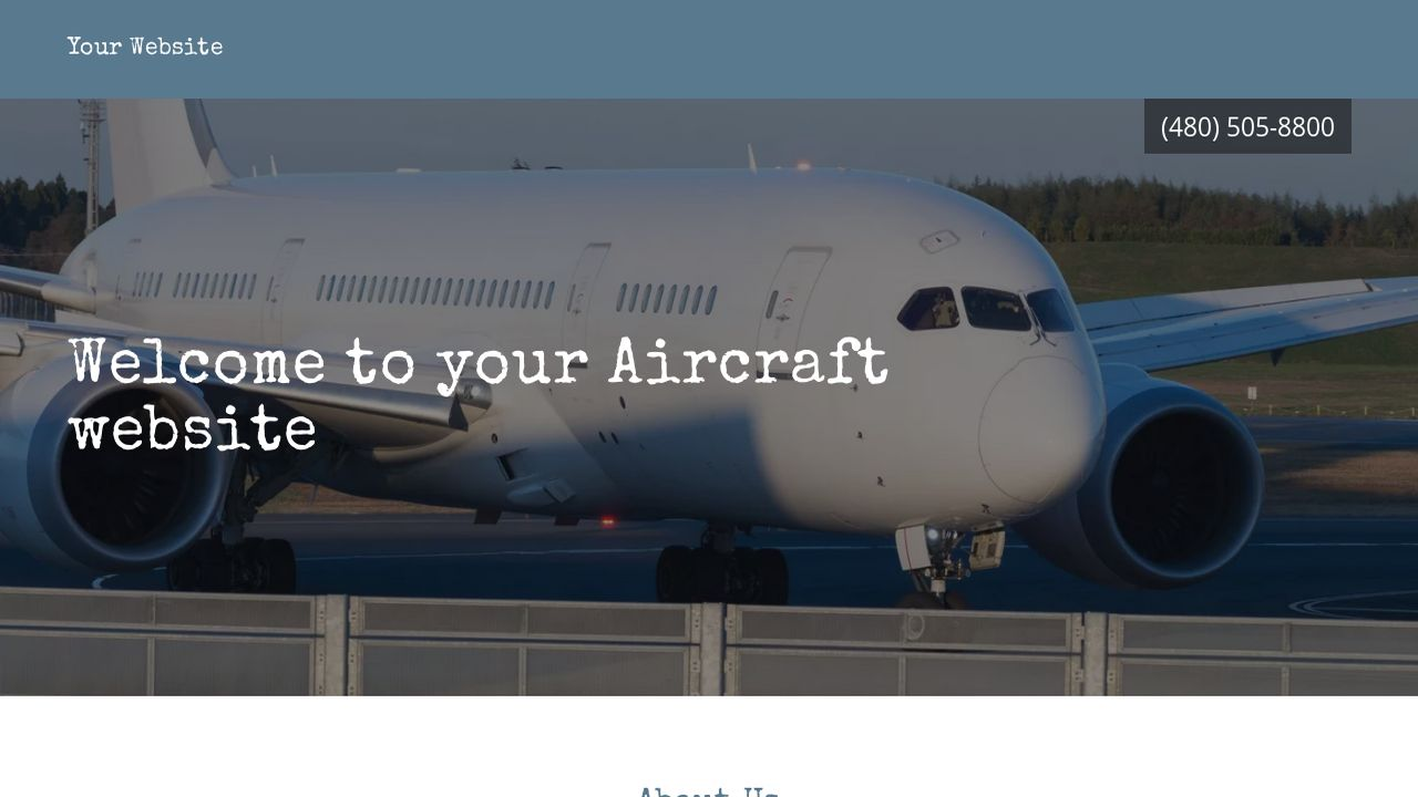 Aircraft Website: Example 7