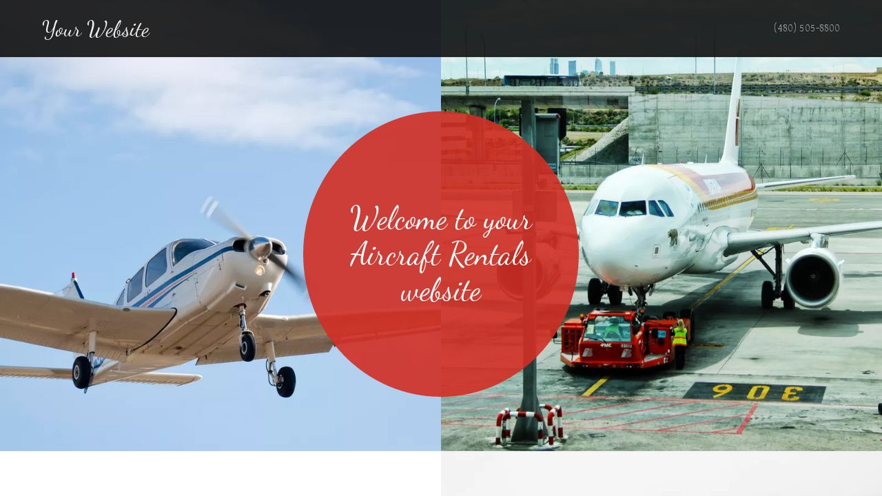 aircraft rentals website templates godaddy. Black Bedroom Furniture Sets. Home Design Ideas
