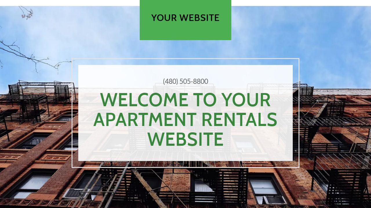 Apartment Rentals Website: Example 1