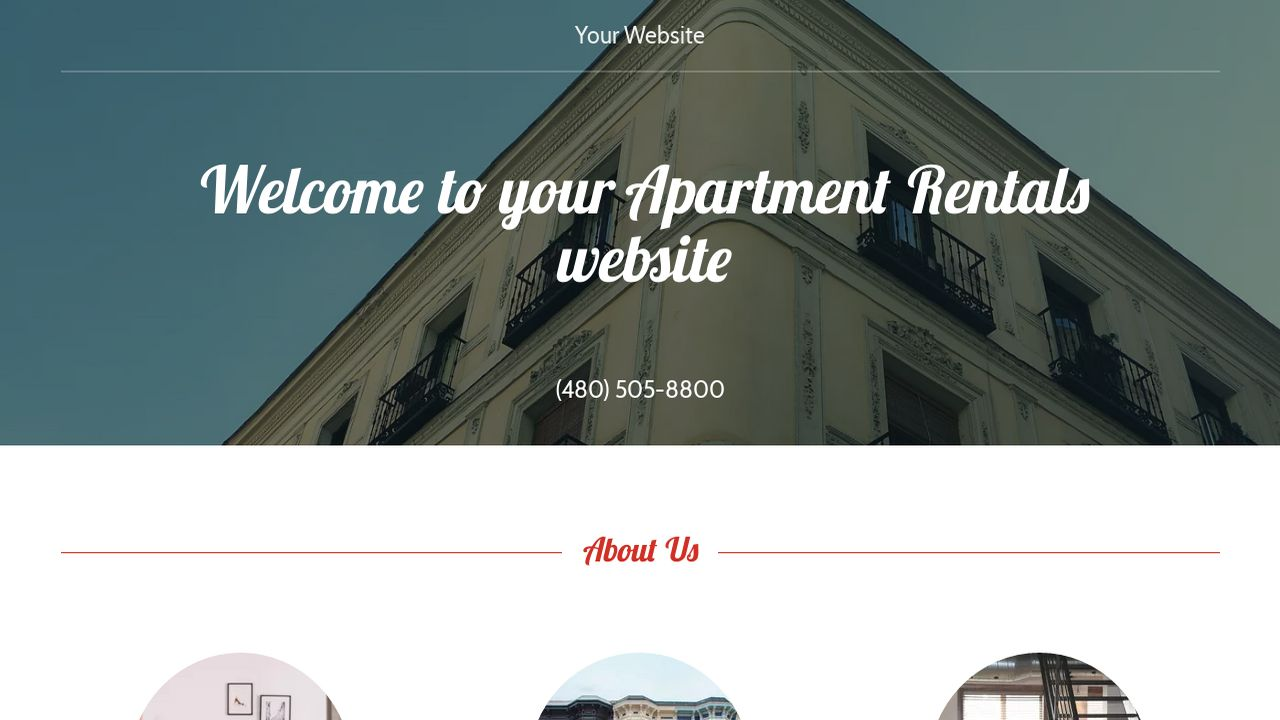 Apartment Rentals Website: Example 12