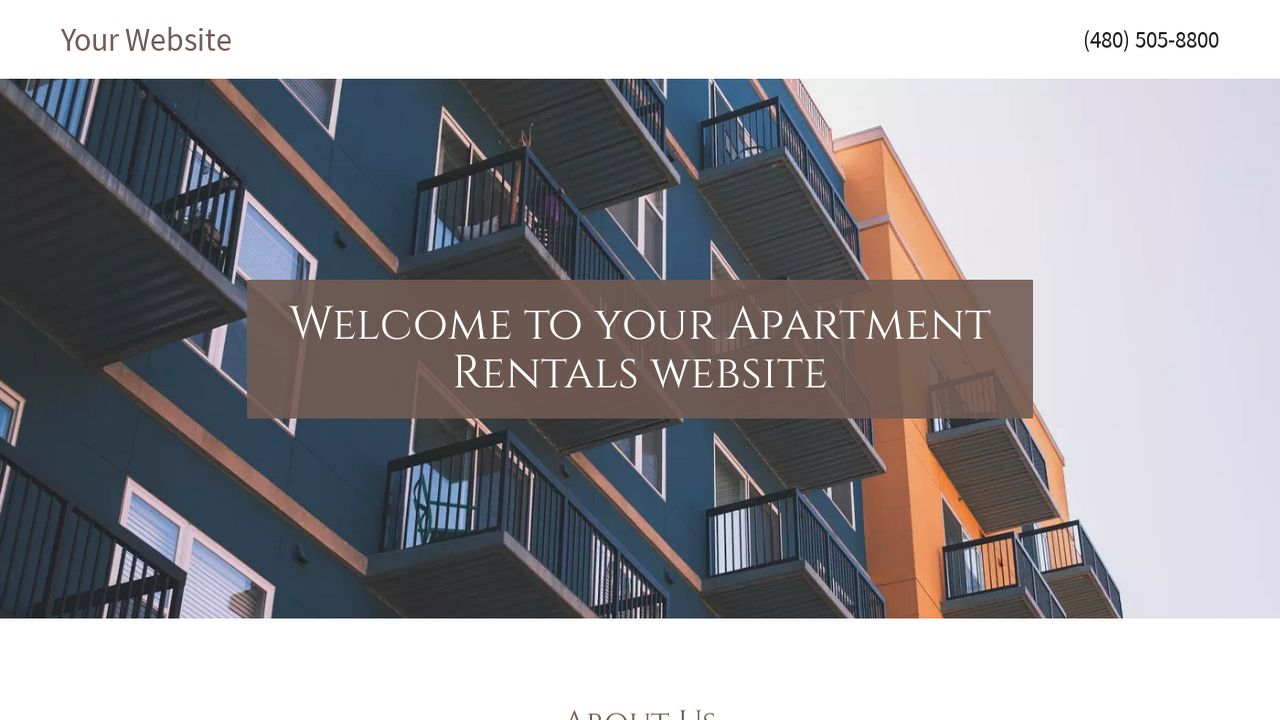 Apartment Rentals Website: Example 2