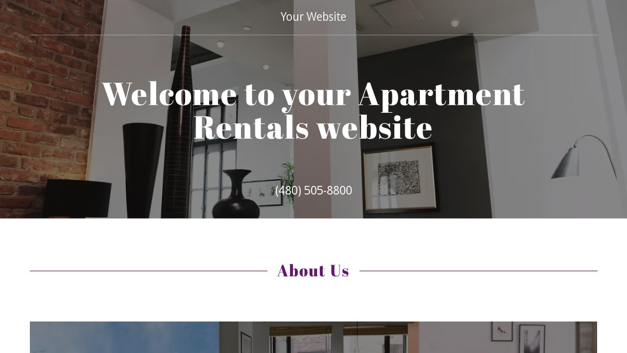 Apartment Rentals Website: Example 5