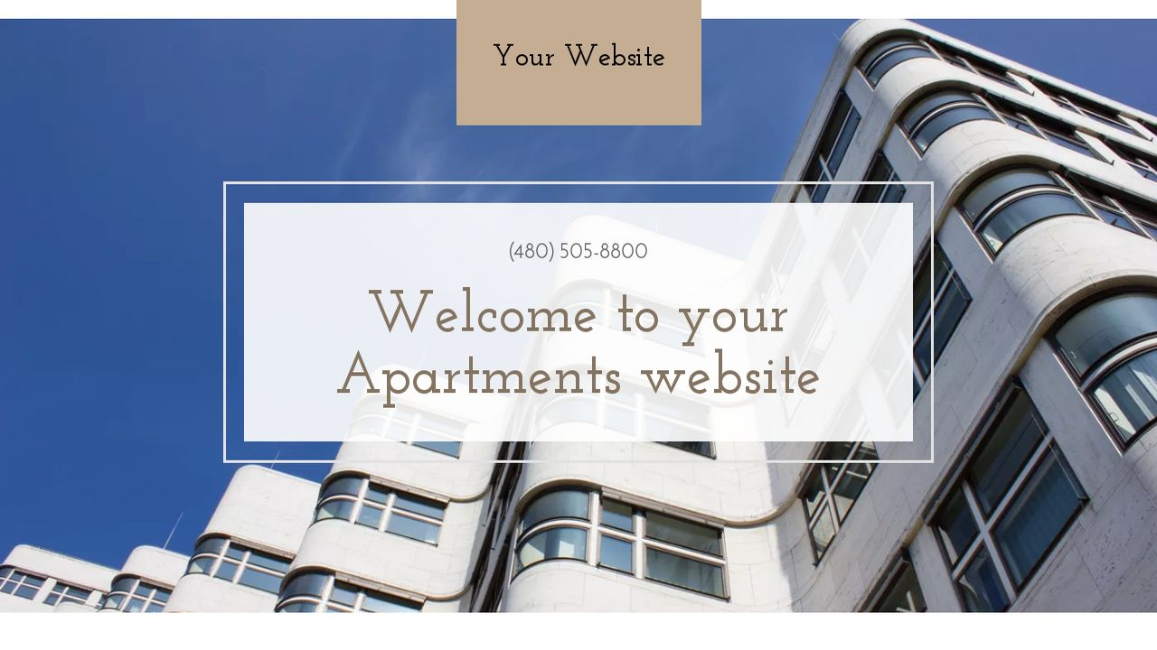 Apartments Website: Example 1