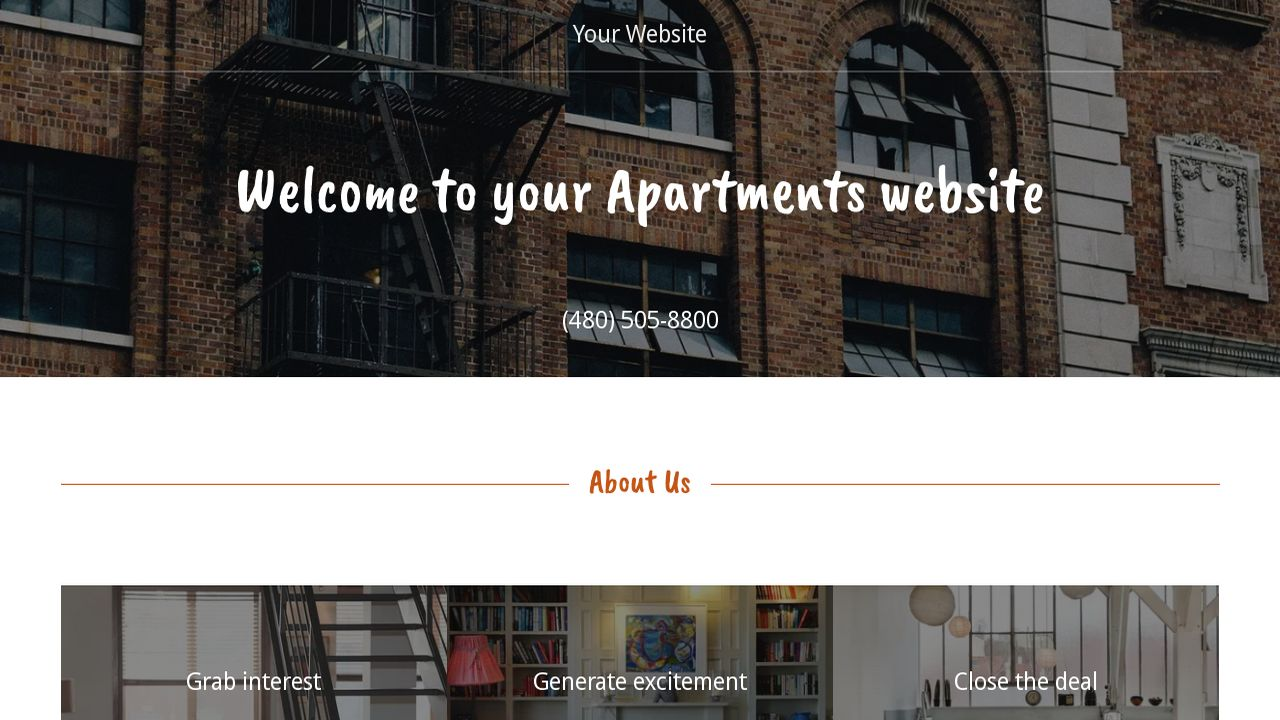 Apartments Website: Example 10
