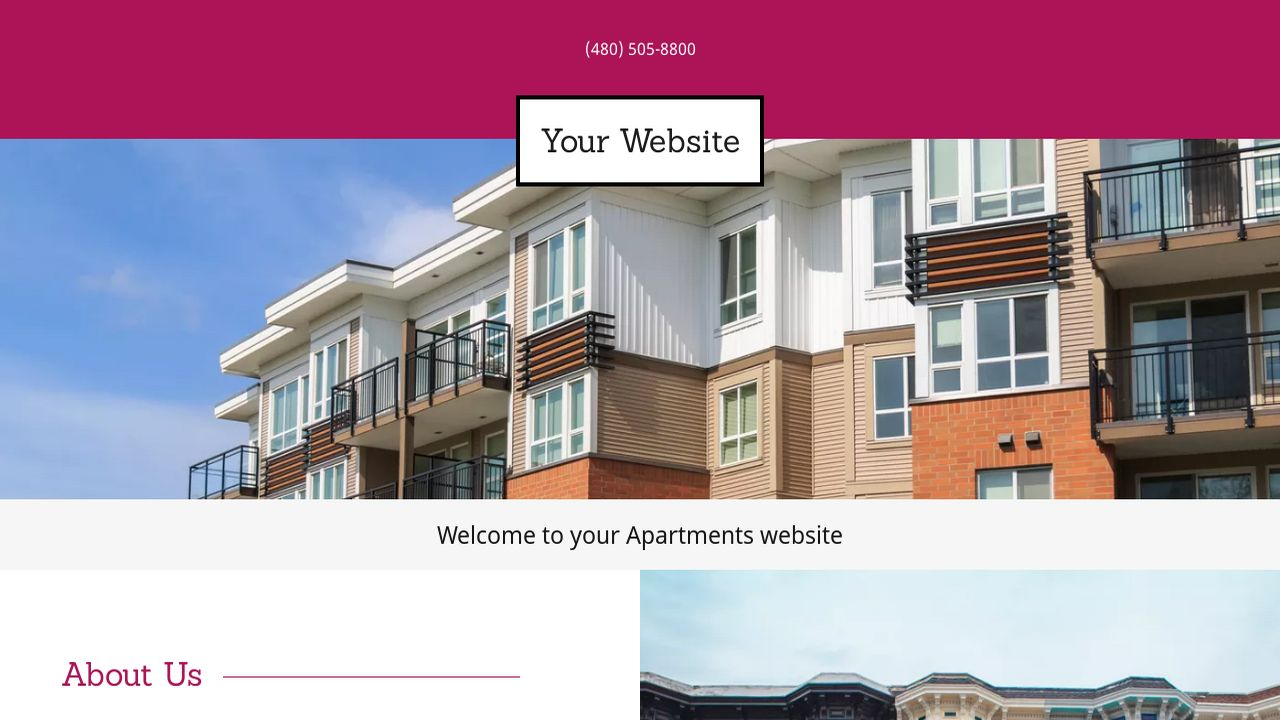 Apartments Website: Example 12