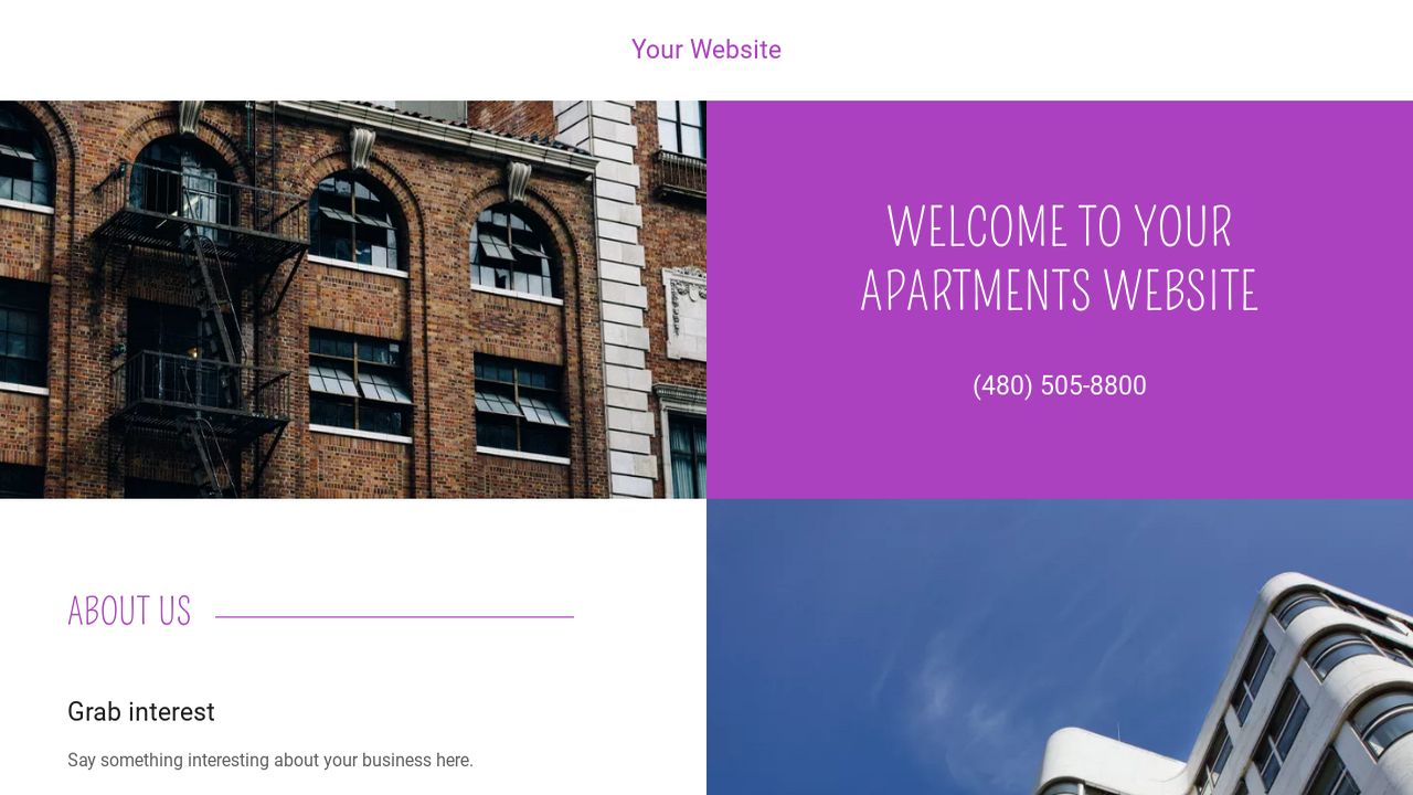 Apartments Website: Example 2
