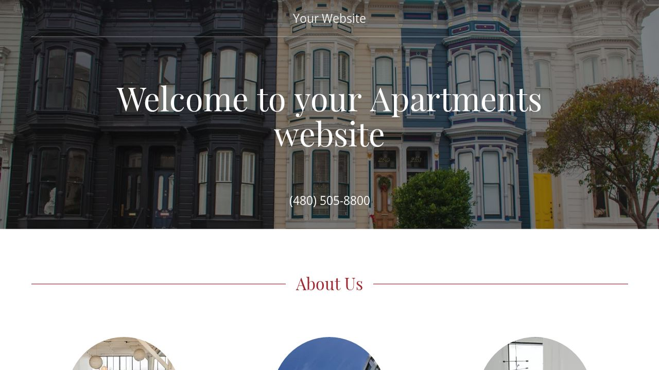 Apartments Website: Example 3