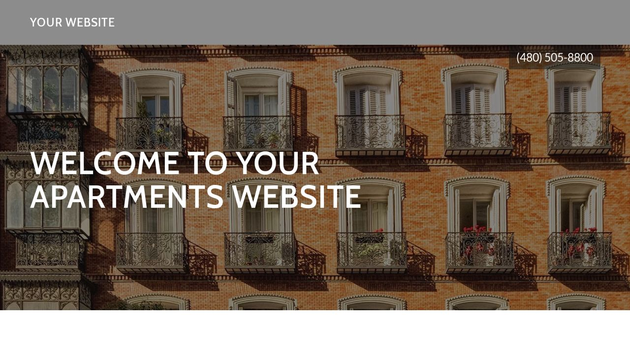 Apartments Website: Example 4