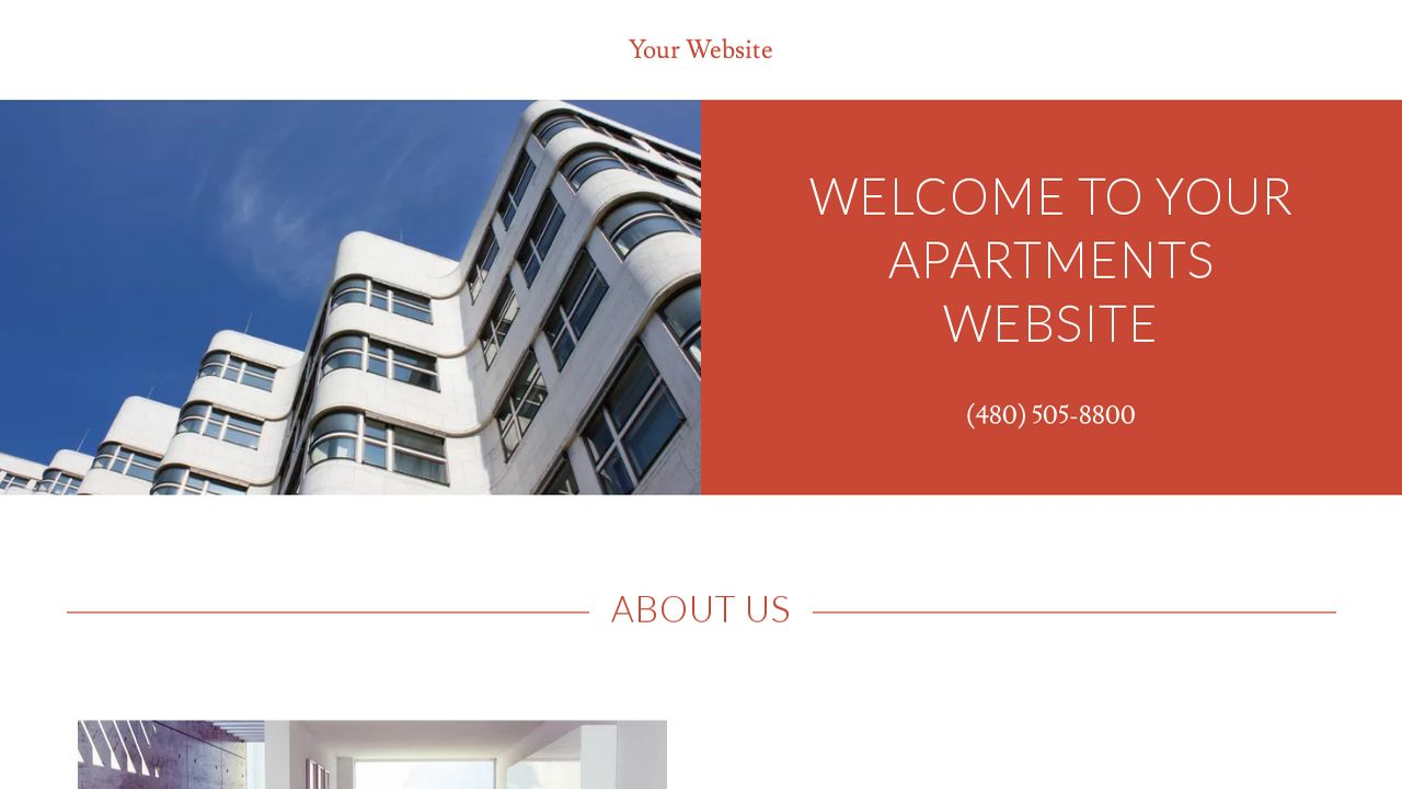 Apartments Website: Example 9
