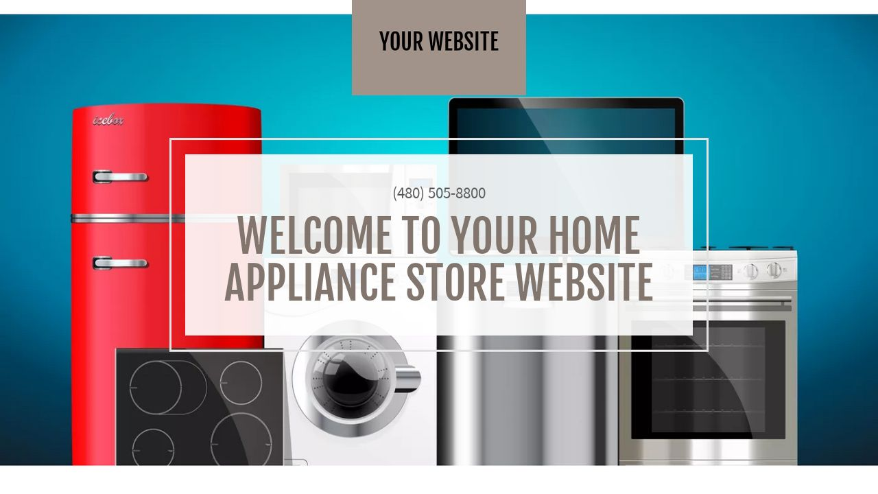home appliance store website templates godaddy. Black Bedroom Furniture Sets. Home Design Ideas
