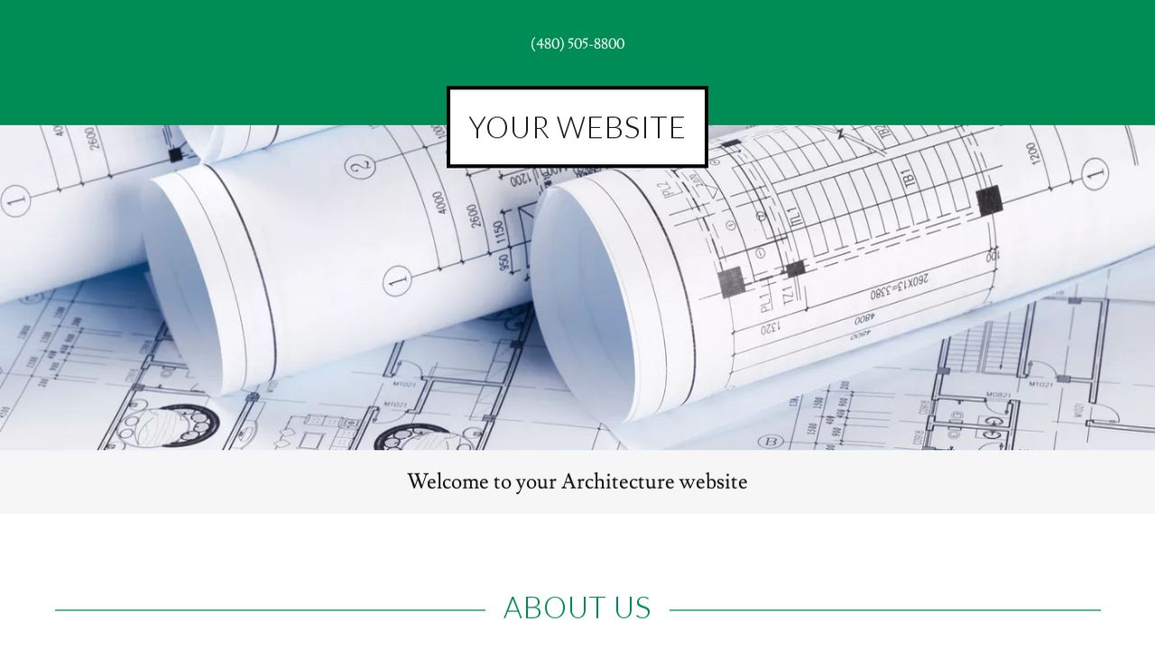Example 6 Architecture Website Template | GoDaddy