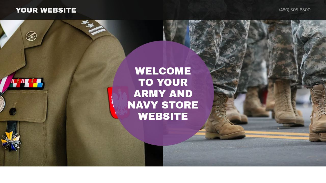 Army and Navy Store Website: Example 1
