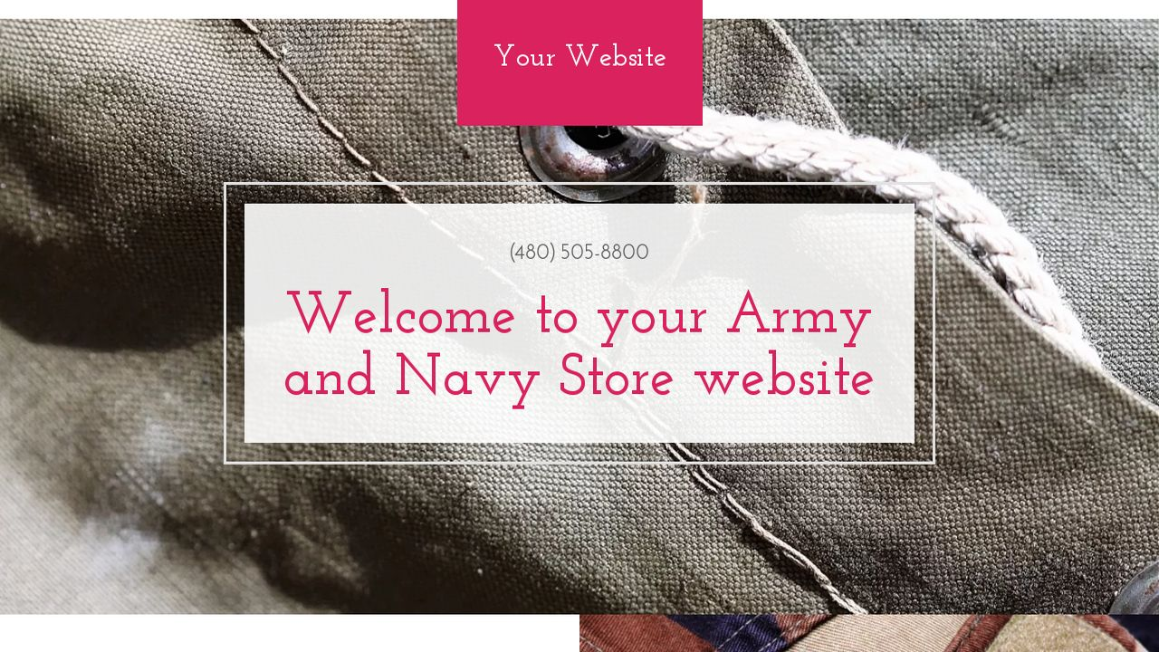 Army and Navy Store Website: Example 12