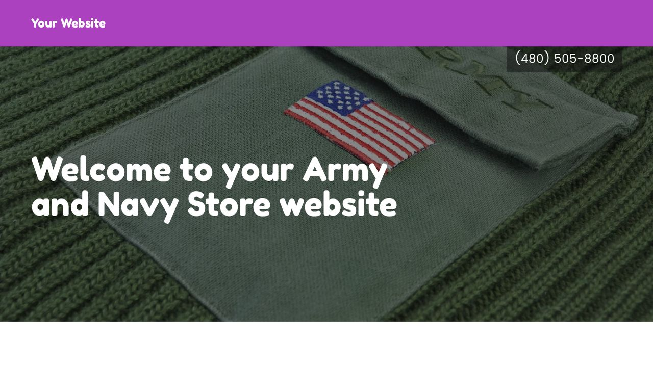 Army and Navy Store Website: Example 16