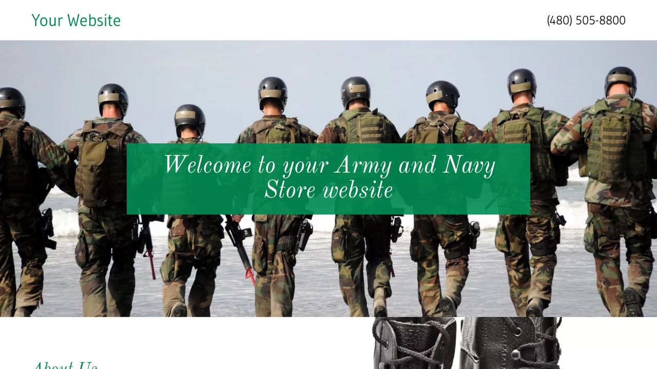 Army and Navy Store Website: Example 17