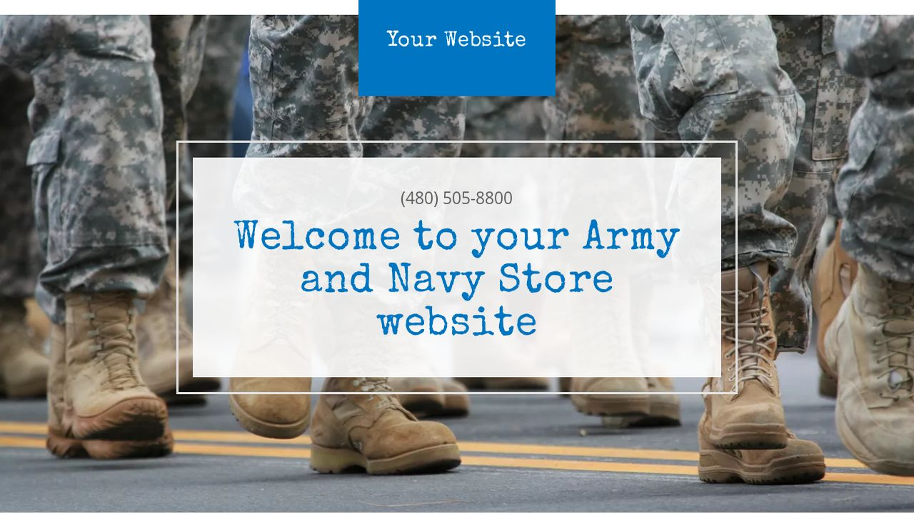 Army and Navy Store Website: Example 5