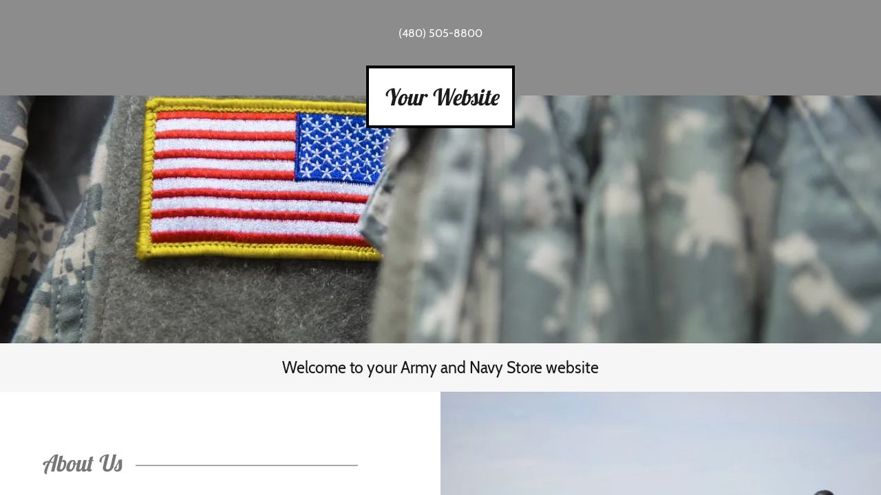 Army and Navy Store Website: Example 7