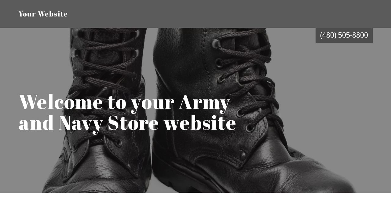 Army and Navy Store Website: Example 9
