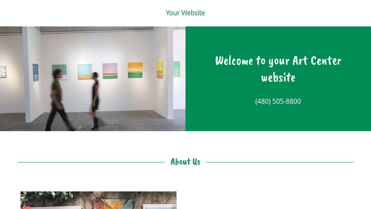 Art Center Website Templates Godaddy