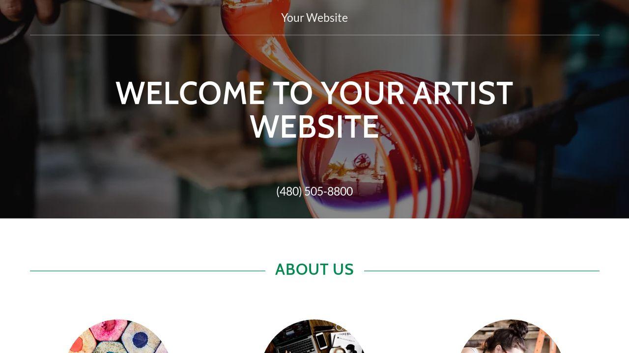 Artist Website Templates Godaddy