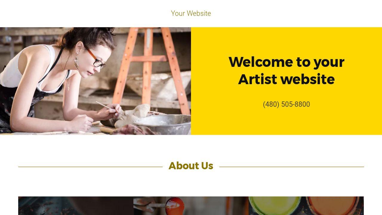 Artist Website Templates GoDaddy - Artist website templates