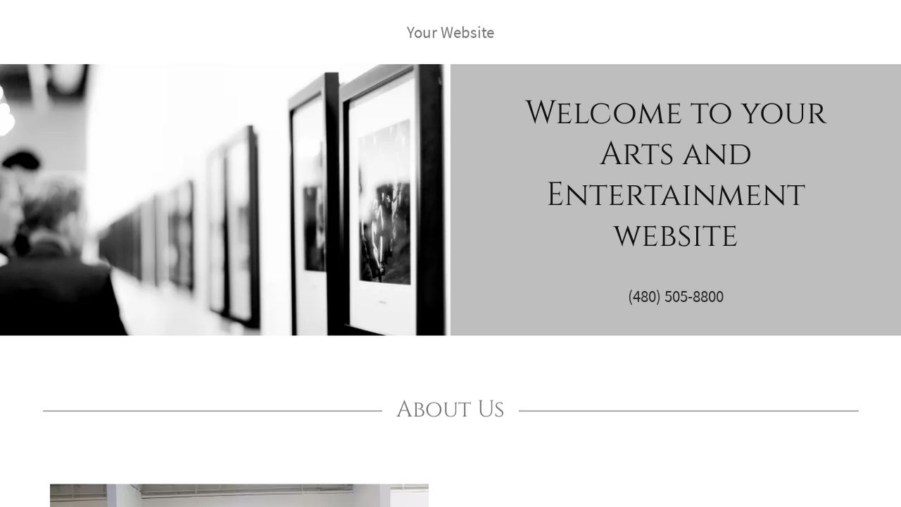 Arts and Entertainment Website: Example 1