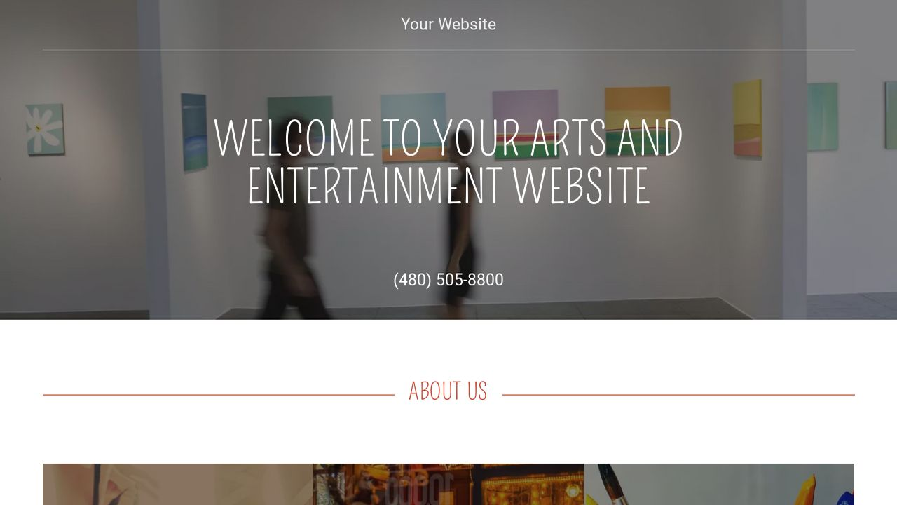 Arts and Entertainment Website: Example 10
