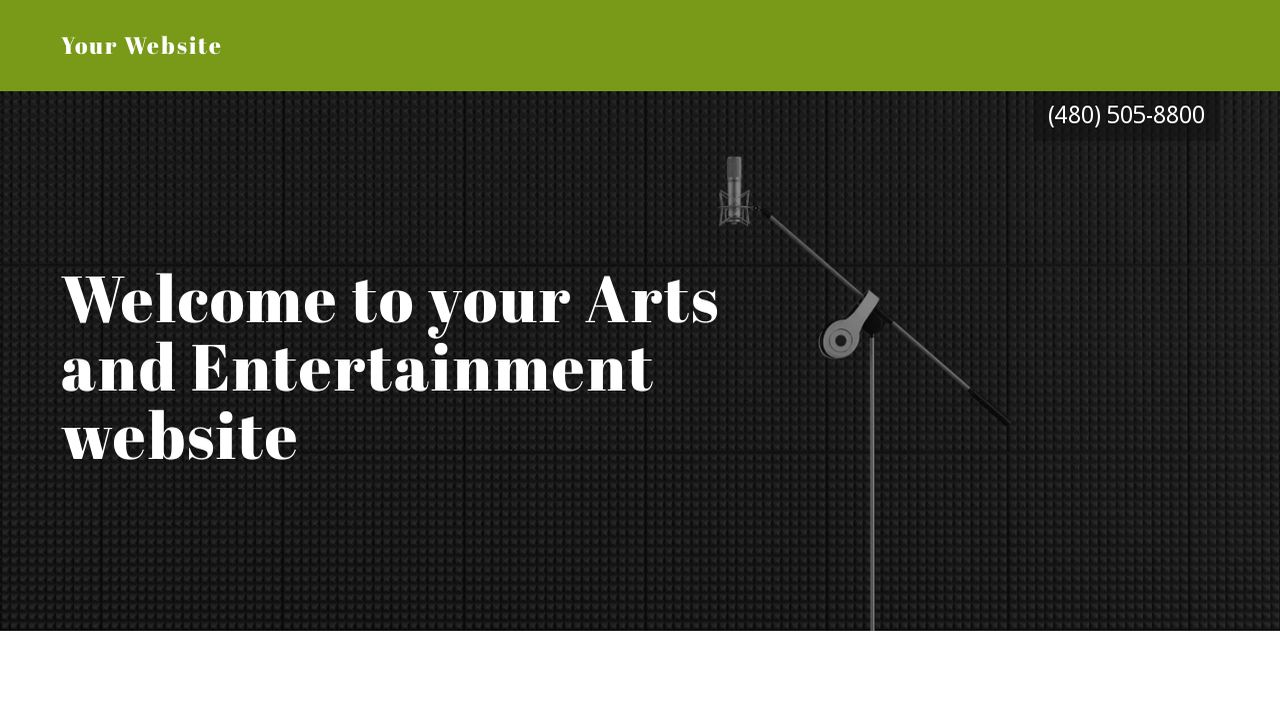Arts and Entertainment Website: Example 12