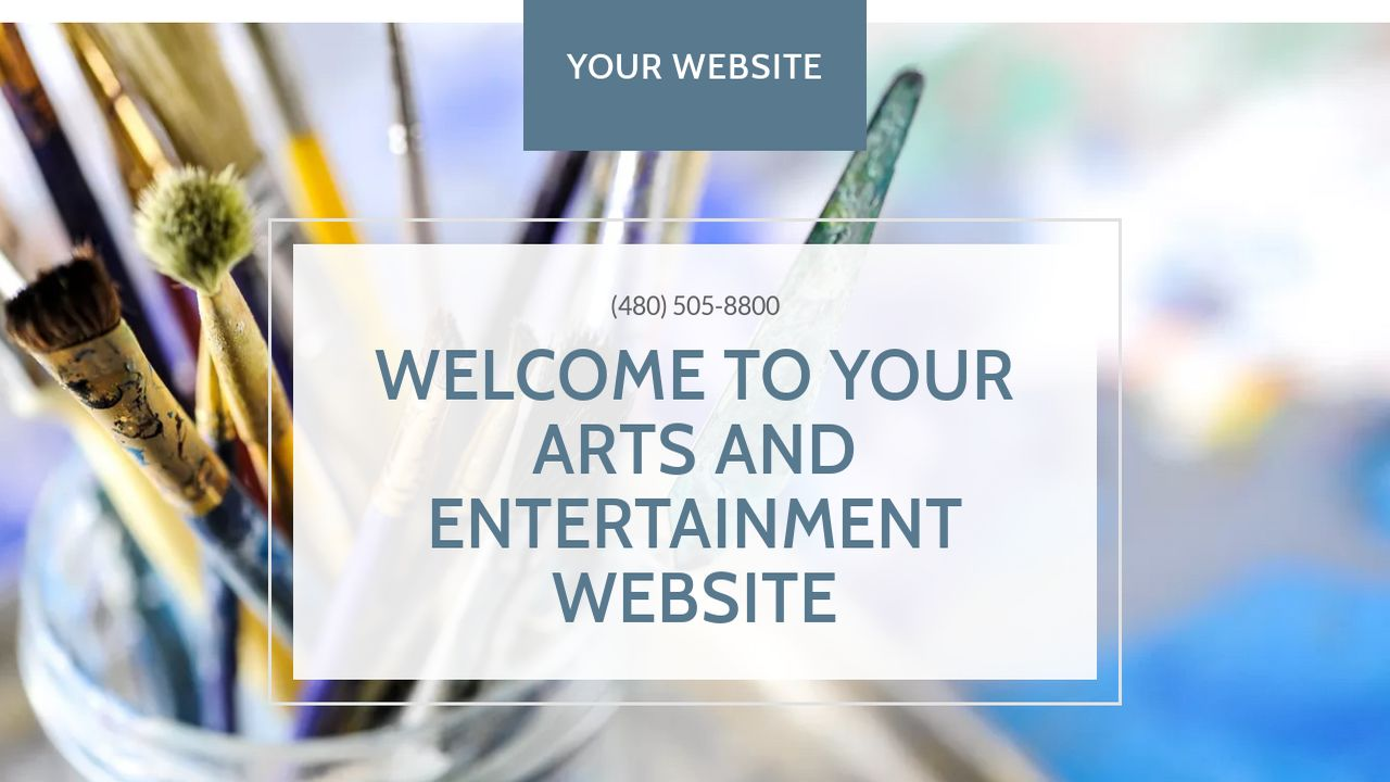 Arts and Entertainment Website: Example 13