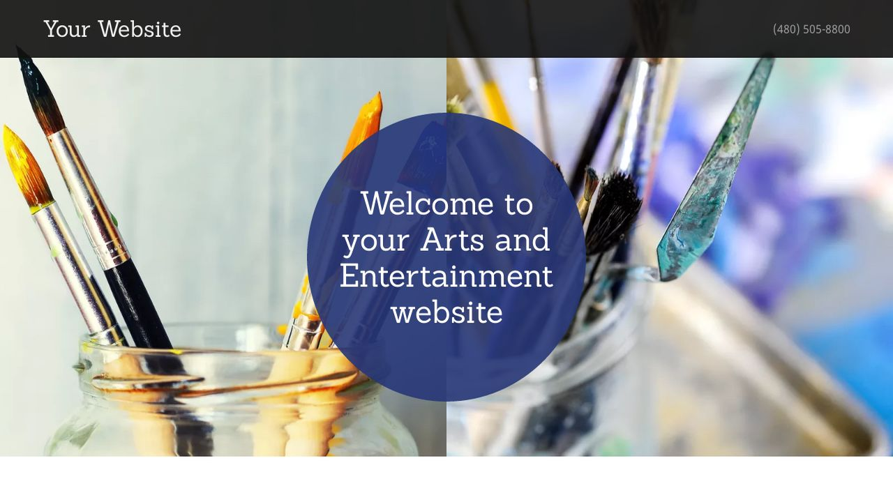 Arts and Entertainment Website: Example 16