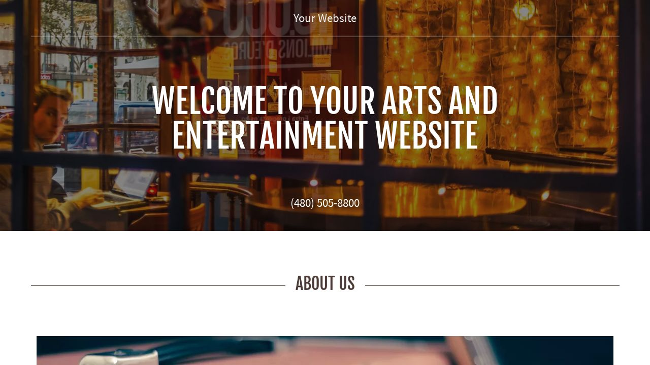 Arts and Entertainment Website: Example 17