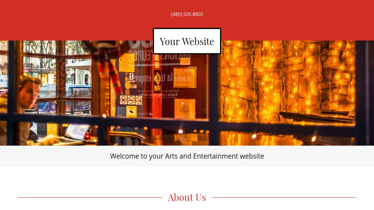 Arts and Entertainment Website: Example 18