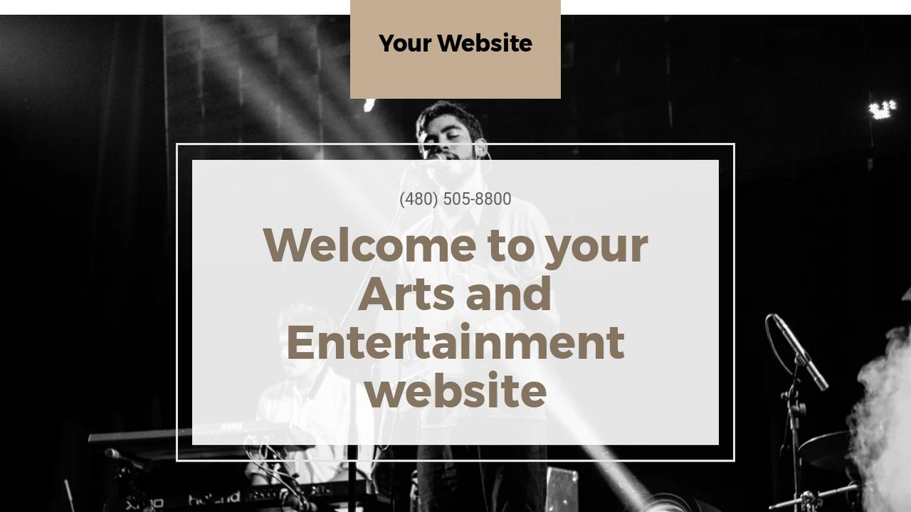 Arts and Entertainment Website: Example 6