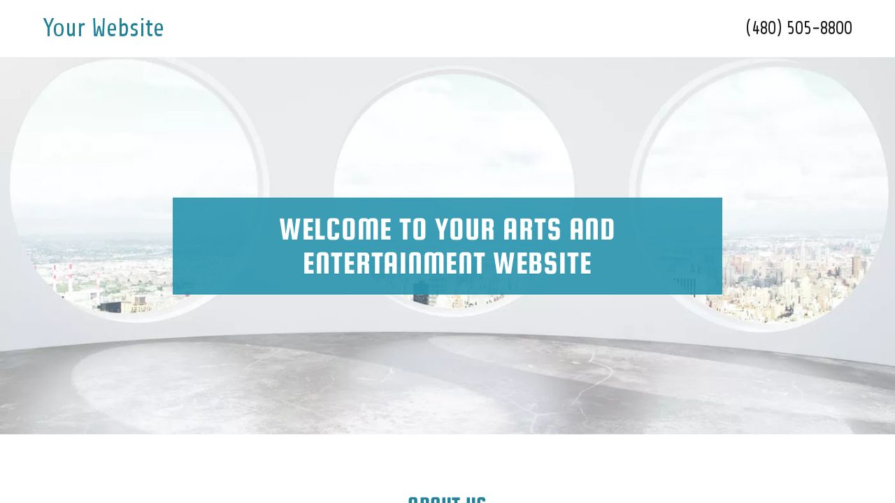 Arts and Entertainment Website: Example 7