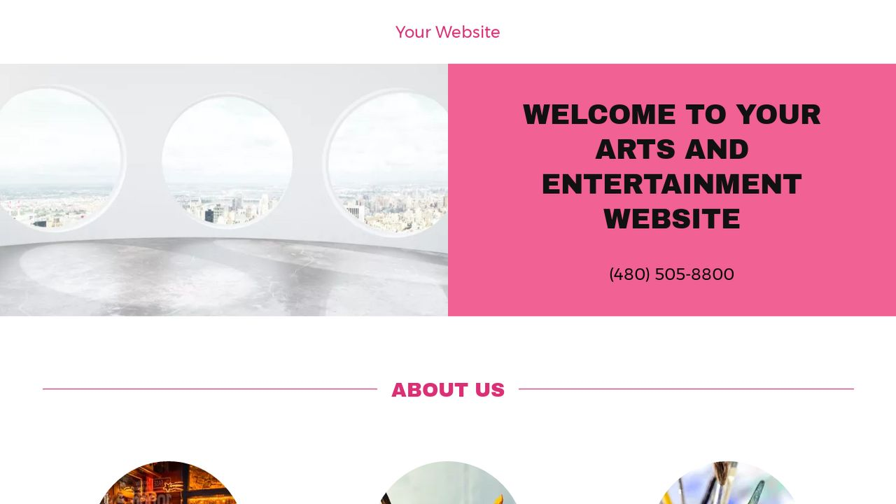 Arts and Entertainment Website: Example 8