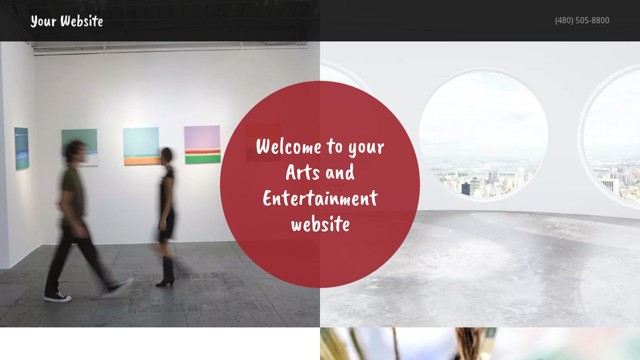 Arts and Entertainment Website: Example 9