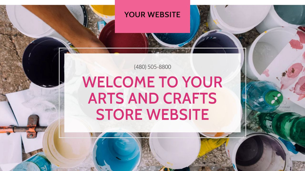 arts and crafts store website templates godaddy