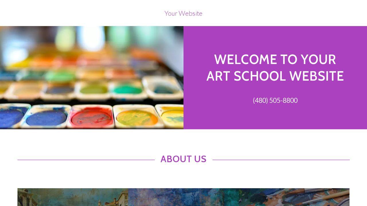 art school website templates godaddy. Black Bedroom Furniture Sets. Home Design Ideas