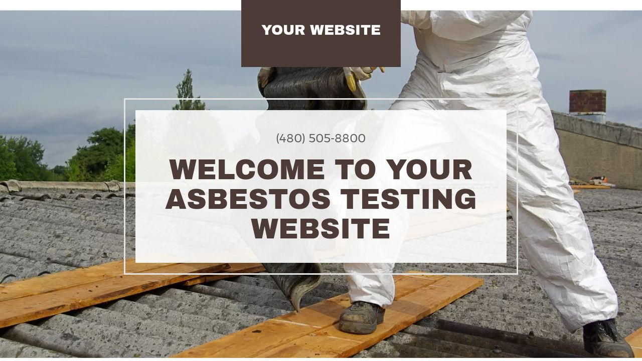 Asbestos Testing Website: Example 1