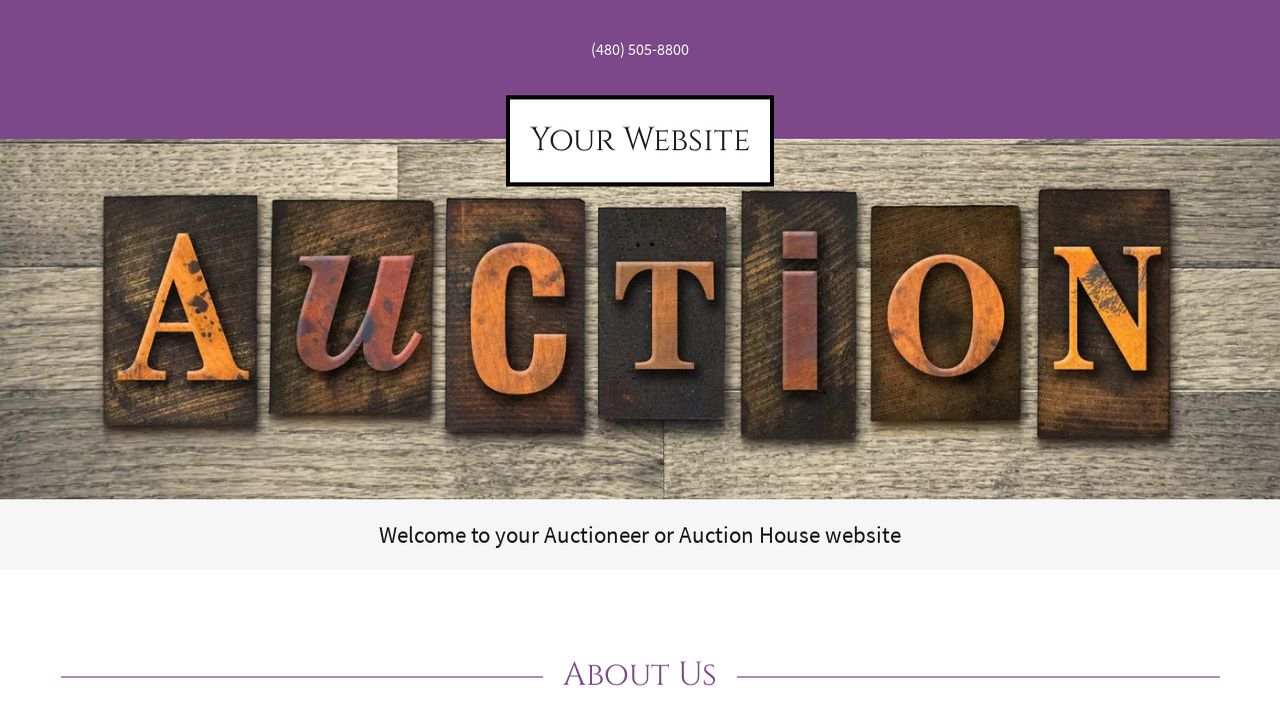 auctioneer or auction house website templates godaddy