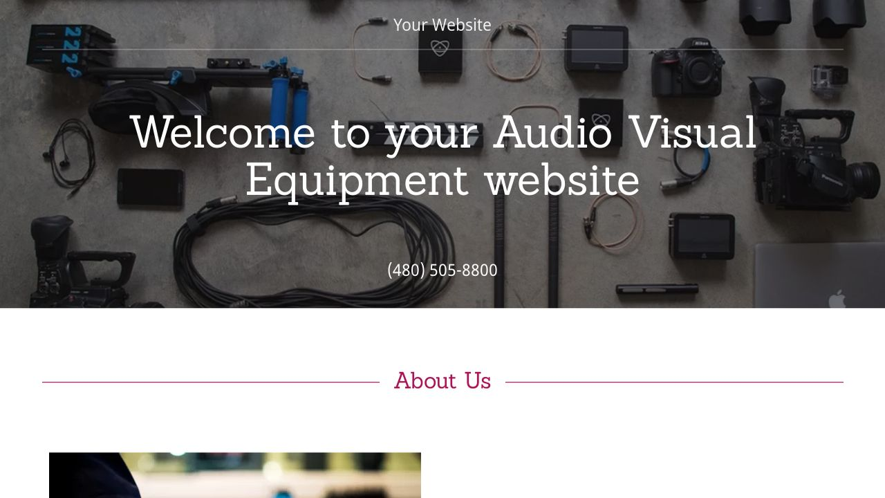 example 8 audio visual equipment website template godaddy. Black Bedroom Furniture Sets. Home Design Ideas