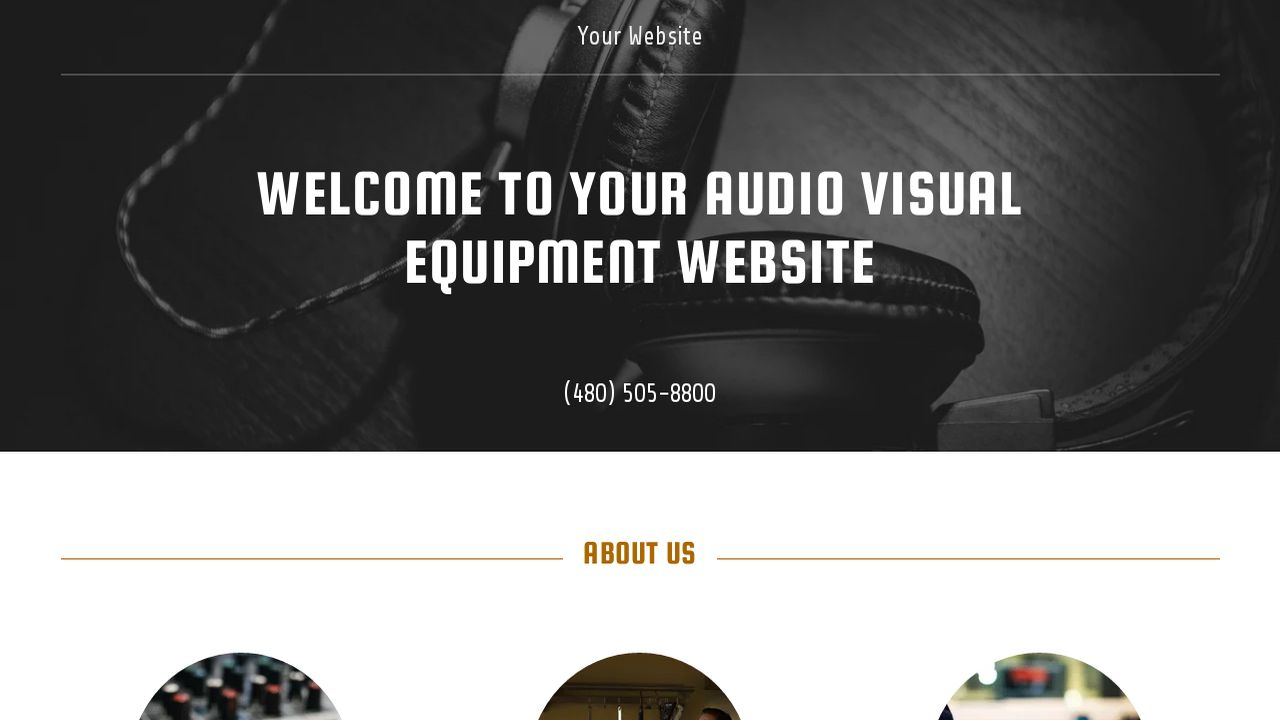 audio visual equipment website templates godaddy. Black Bedroom Furniture Sets. Home Design Ideas
