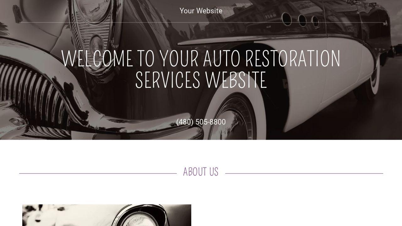 Auto Restoration Services Website Templates | GoDaddy