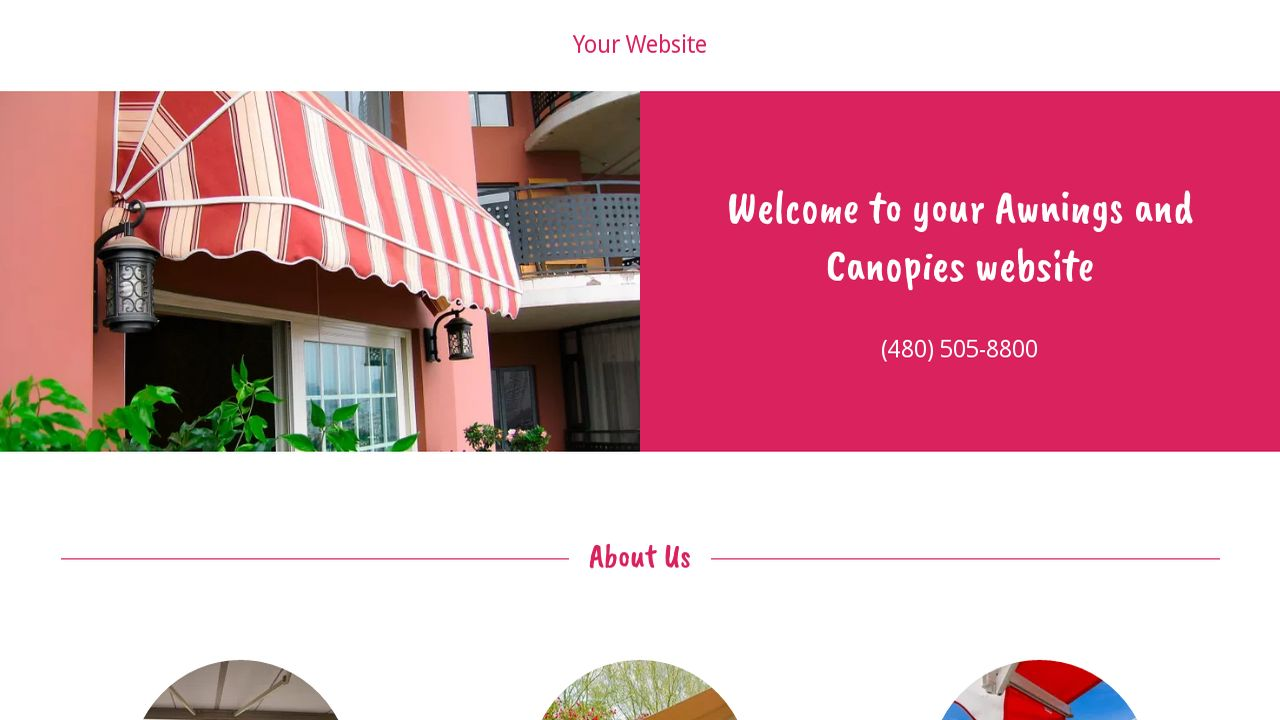Awnings and Canopies Ex&le 15  sc 1 st  GoDaddy & Awnings and Canopies Website Templates | GoDaddy